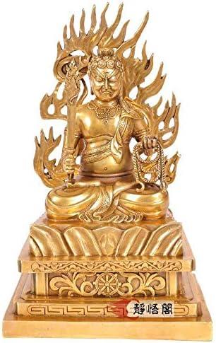 MD220 不動明王不動尊純銅純正彫刻高品質極木彫り仏像工芸品美術品高33cm コレクション。