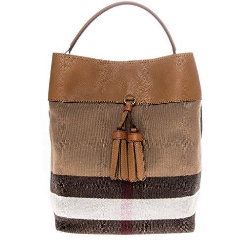 Burberry Women's Medium Ashby in Canvas check and Leather Brown -  BUR004024