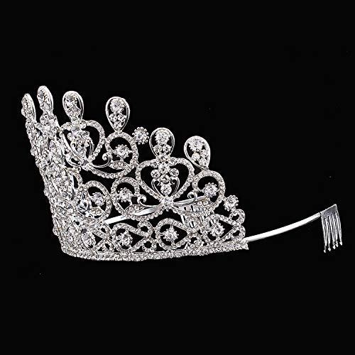 Wedding Crown, Beautiful headdress/Top Ornaments Bridal Crown Hair Ornaments Wedding Accessories Diamond Headwear Wedding Gowns And Accessories. by Junson (Image #4)