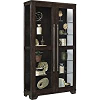 Pulaski P021585 Zadie Collection Two Door Curio Display Cabinet, 44' x 16' x 80', Oak Brown
