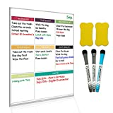 #5: Dry Erase Board Magnetic Whiteboard for Fridge by Nardo Visgo with 3 Magnetic Markers and 2 Erasers,Message Note Board for Meal Planning Chores to do list and Grocery List 16