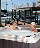 Spa 6 Person Hot Tub LED - 50 Stainless Jets (Tuscan Sun shell-Mahogany cabinet)
