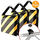 DAOKI 3 Packs Set Black/Yellow Heavy Duty Sand Bag with C Clamp Photography Studio Video Outdoor Stage Film Sandbag Counterbalance Saddlebag for Flash Light Stands Boom Arms Boom Camera Tripods