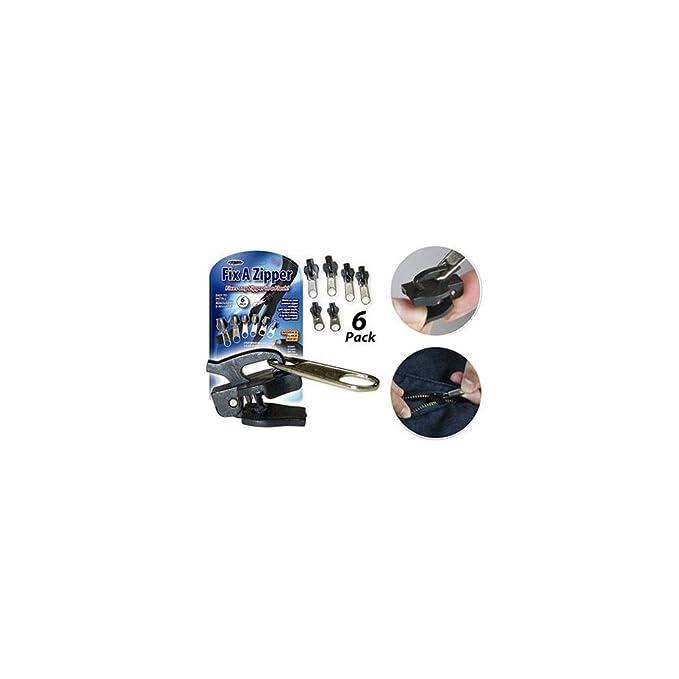 Set de reparación de cremalleras Fix a Zipper, 6 cremalleras, para prendas de vestir, bolsos, etc.: Amazon.es: Hogar