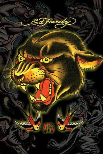 Ed Hardy - Póster de tatuaje (13 de la pantera) (tamaño: 60,96 cm ...