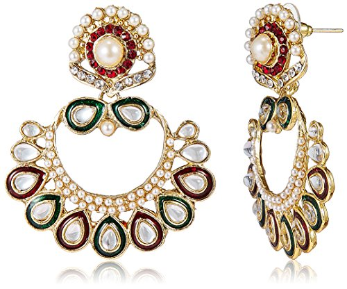 Aheli Dangle & Drop Earrings for Women (Multi-Colour) (A1E22)
