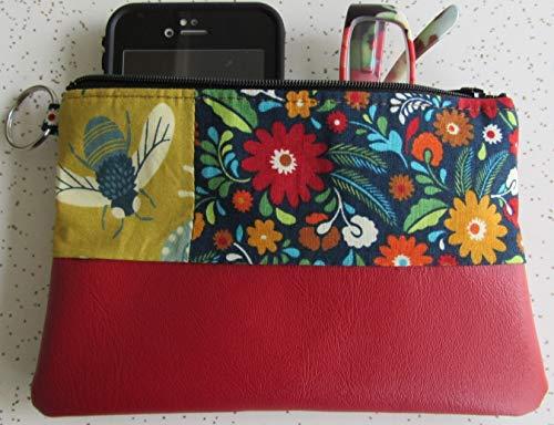 Clutch - Handmade Bee Clutch - Red Vegan Leather Bag