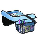 Toddler Car Seat Travel Tray with Storage Pocket Organizer - Blue