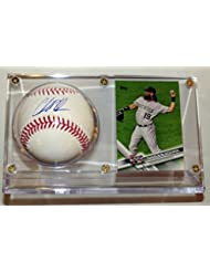 Charlie Blackmon Signed OML Baseball & Topps All Star Card - Beckett BAS COA Authenticated & Ultra Pro Display Case