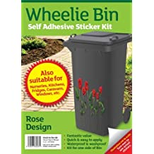 Wheelie bin stickers - Roses by MONOGRAM Classic Signs