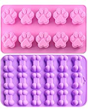 Food Grade Silicone Mold, IHUIXINHE Jelly, Biscuits, Ice Cube, Chocolate, Candy, Cupcake Baking Mold, Muffin Pan (Puppy)