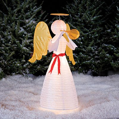 4 ft tall lighted angel christmas yard art decoration - Lighted Angel Outdoor Christmas Decorations