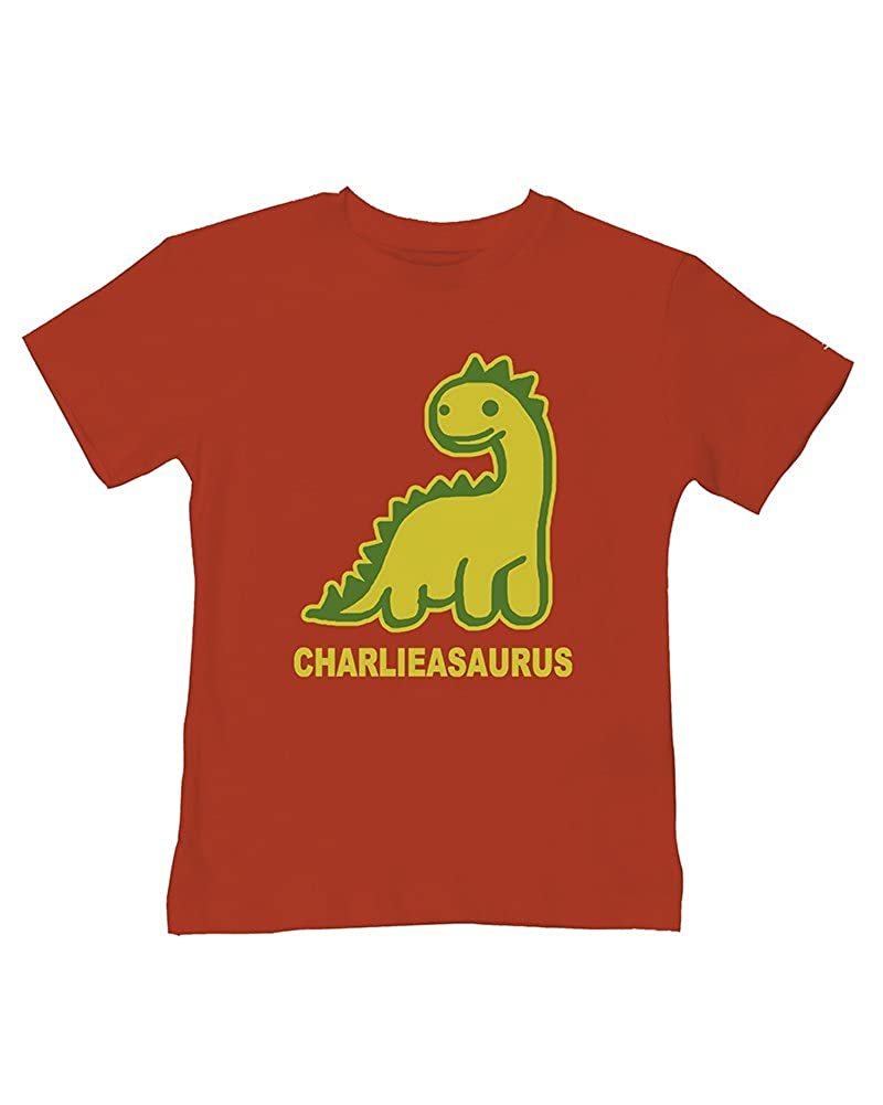 Ice-Tees Personalised Dinosaur Baby Boys t-Shirt- Your Name asaurus