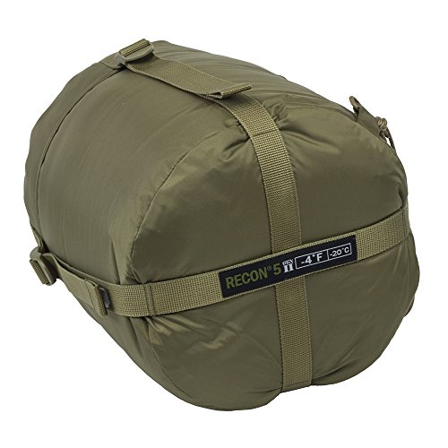 Elite Survival Systems ELSRECON5-T Recon 5 Rated to -4 Degree Fahrenheit Sleeping Bag, Coyote Tan
