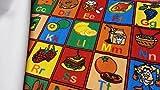"Kids Rug ABC Fruit Area Rug 39"" X 58"" for Playroom"