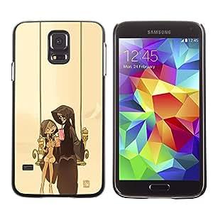 Caucho caso de Shell duro de la cubierta de accesorios de protección BY RAYDREAMMM - Samsung Galaxy S5 - Pareja Parca