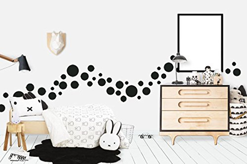 Create-A-Mural Polka Dot Wall Stickers, (63) Wall Decor Stickers, Wall Dots, Vinyl Circle Room Dot Decals 3