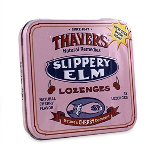 THAYERS Cherry Slippery Elm Lozenges, 42 - Elm Slippery Cherry