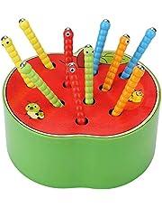 Afufu Juguetes de Madera para Bebes, Montessori Juguetes Educativos, Frutas La Captura de Insectos Juego, en Edad Preescolar Regalos Niñez Temprana para Niños y Niñas 3 4 5 6 años, Navidad/Cumpleaños
