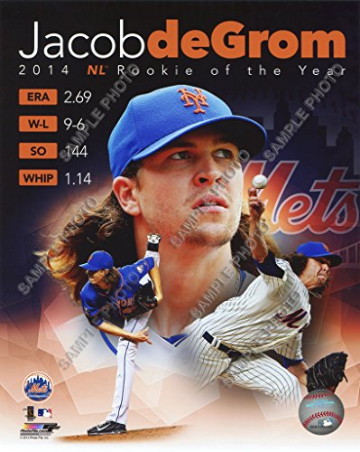 Jacobs Photo - Jacob deGrom 2014 Rookie ROY New York Mets 8x10 Licensed Composite Photofile Photo