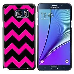 Stuss Case / Funda Carcasa protectora - Patrón Hipster púrpura Negro - Samsung Galaxy Note 5