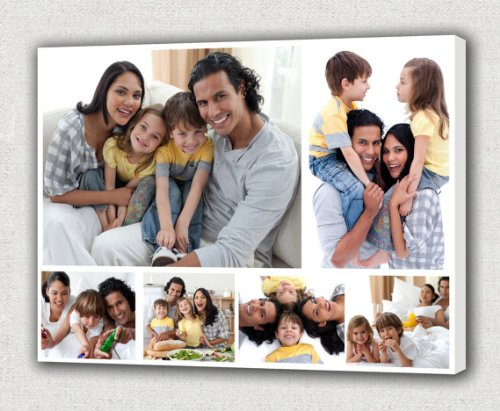 (Your Photos on Canvas Collage, Wedding or Family Collage on Canvas (16
