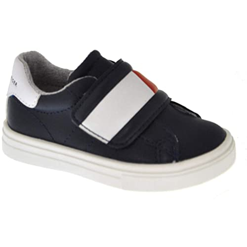 df408f335a663d Tommy Hilfiger T1B4-30304-0622 Blue Red White Eco Leather Infant Trainers   Amazon.co.uk  Shoes   Bags