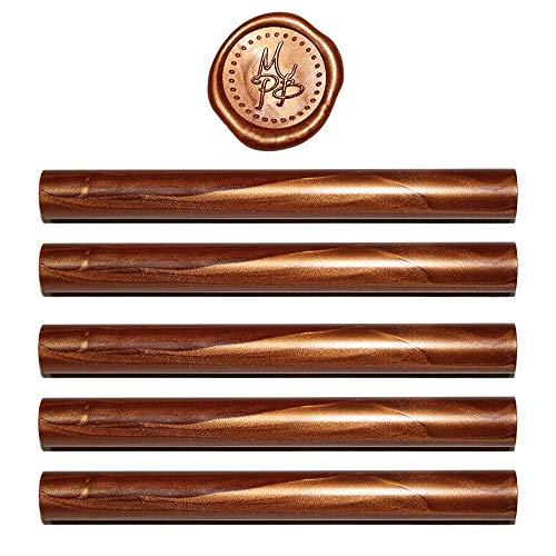 - Copper Sealing Wax Sticks - 5 Wax Seal Sticks Per Package - Glue Gun Format - 100% USA Ingredients (Copper)