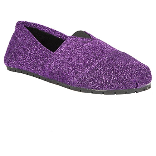 Hounds Women's Fleece Lined Loafers Flats Slip on Shoes Purple Size 7-8 from Hounds