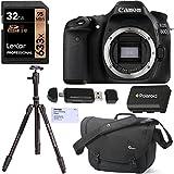 Canon EOS 80D Digital SLR Camera Body, Davis Sanford Tripod Monopod, Lexar 32GB, Lowepro Passport Messenger Bag, Polaroid Battery and Accessory Bundle