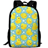 CY-STORE Cartoon Animal Cute Duck Outdoor Shoulders Bag Fabric Backpack Multipurpose Daypacks For Adult