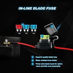 Nilight NI -WA 07 LED Light Bar Wiring Harness Kit