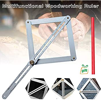 Stainless Steel Corner Angle Finder Ceiling Artifact Tool Square Protractor UK