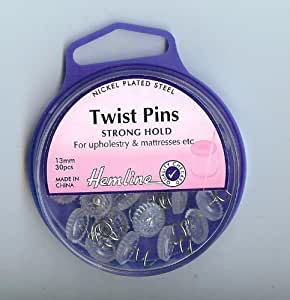 Twist Pins for Upholstery and Mattresses by Hemline
