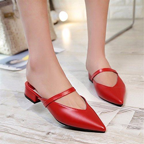 Chaussons Sandales red de YUCH D'Été Robe Ladies' Soirée Soirée Élégante 5qqZ418vw