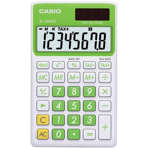 Casio Sl300VCGNSIH Solar Wallet Calculator with 8