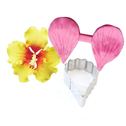 Amazon Carunke Gumpaste Hibiscus Petal Cutter Veiner Set