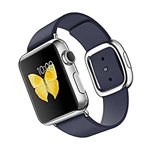 Apple Watch 38mm Stainless Steel Case with Midnight Blue Modern Buckle (Small) (Certified Refurbished)