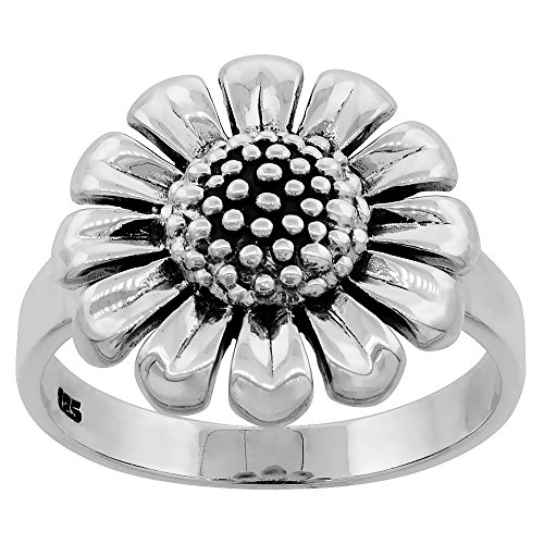Sterling Silver Sunflower Large sizes