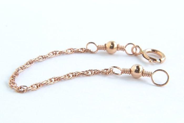 Amazoncom Rose Gold Necklace Extender 14K Rose Gold Filled Rope