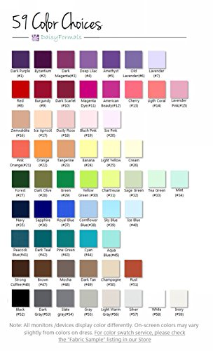 DaisyFormals Fabric Sample Color Swatch for Formal Dresses (3 pcs, Leave a Note)