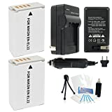 2-Pack EN-EL22 High-Capacity Replacement Batteries with Rapid Travel Charger for Select Nikon Digital Cameras. UltraPro Bundle Includes: Camera Cleaning Kit, Screen Protector, Mini Travel Tripod