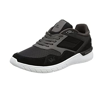 7737fd8480c9 Image Unavailable. Image not available for. Color  Supra Winslow Athletic  Runner Shoes Black Charcoal White Size Men s ...