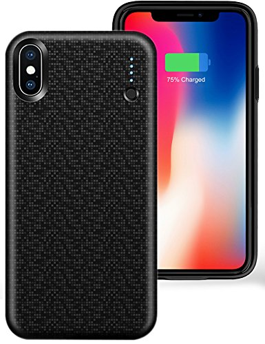 Pumier Battery Charging Case for iPhone X,Ultra Slim Extended Battery Pack Case Cell Phone Charging Case for iPhone X
