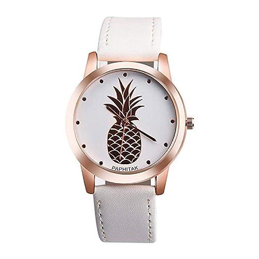 Promoción!Reloj de Cuarzo Unisex, Modelo análogo de piña ...