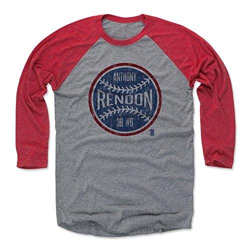 (500 LEVEL Anthony Rendon Baseball Tee Shirt XX-Large Red/Heather Gray - Washington Baseball Raglan Shirt - Anthony Rendon Ball B)