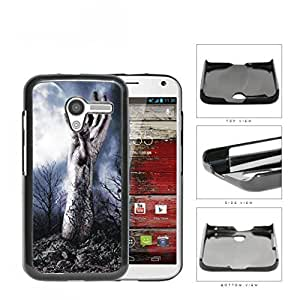 Zombie Hand Above Ground In Forest Hard Plastic Snap On Cell Phone Case Motorola Moto X by icecream design