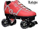 Labeda Voodoo U3 Outdoor Quad Roller Speed Skates Customized Red Skate w/ Black Trailblazer Wheels! (Mens 13)