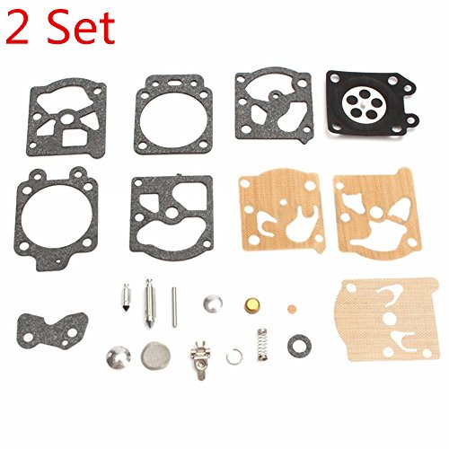 - Euros K20-WAT Carburetor Rebuild Kit Diaphragm Gasket Needle Repair Carb Kit Fit for Walbro Carb Echo Homelite Husqvarna Chainsaw String Trimmer (2 Set)