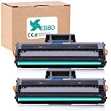 EBBO Compatible Toner Cartridges Replacement for Samsung MLT-D111S D111S Compatible with Xpress SL-M2020W SL-M2070W SL-M2070FW SL-M2022W Laser Printer (Black, 2-Pack)